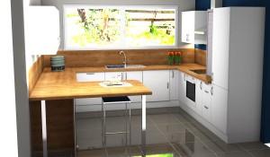 projet agencement cuisine blanche