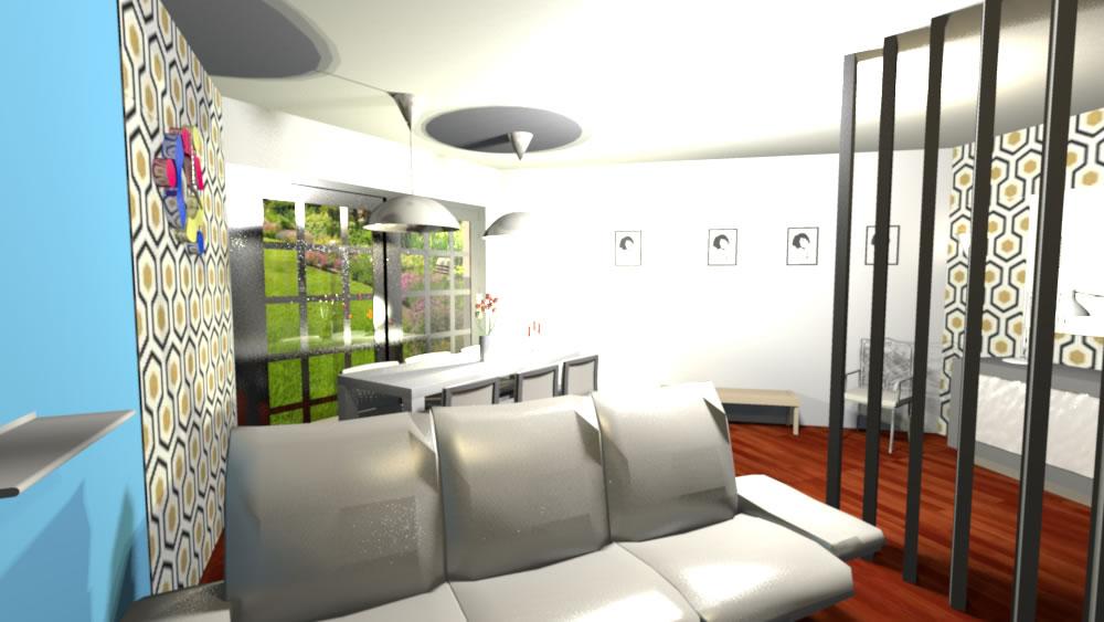 intérieur design vue salon