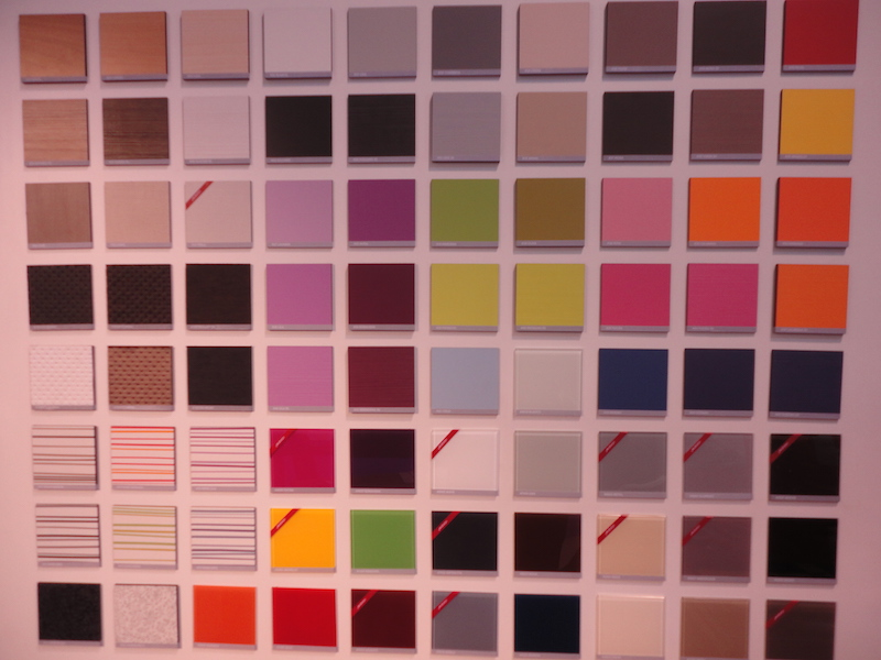 palette de coloris
