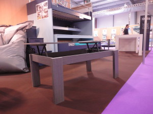 table basse modulable position haute
