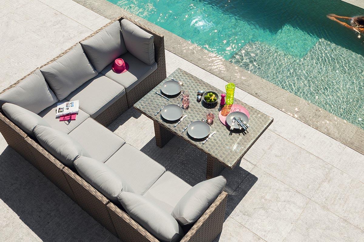 Salon de jardin avec table repas - Mailleraye.fr jardin