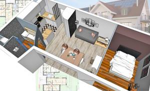 esquisses projet appartement