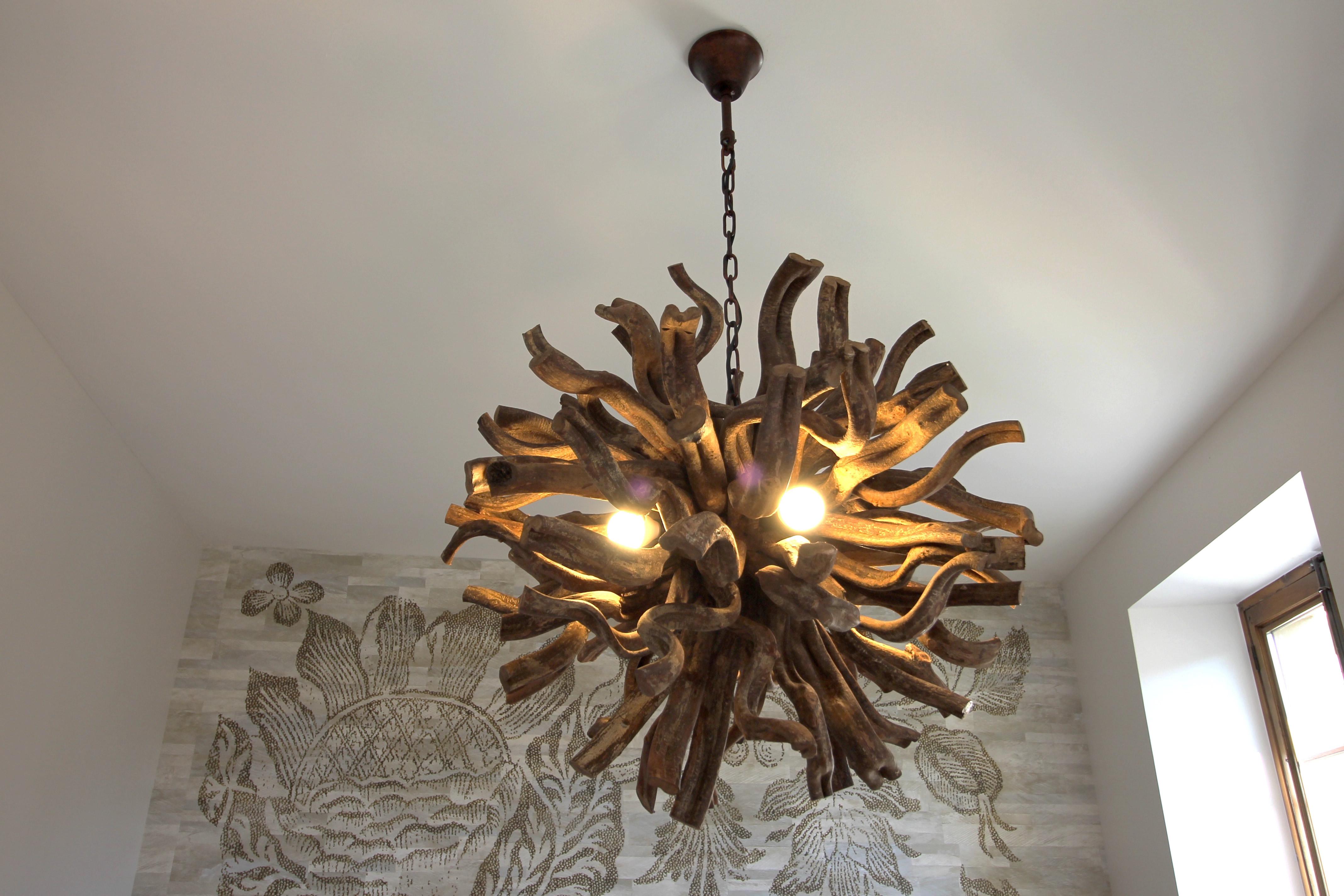 luminaire en bois de designer