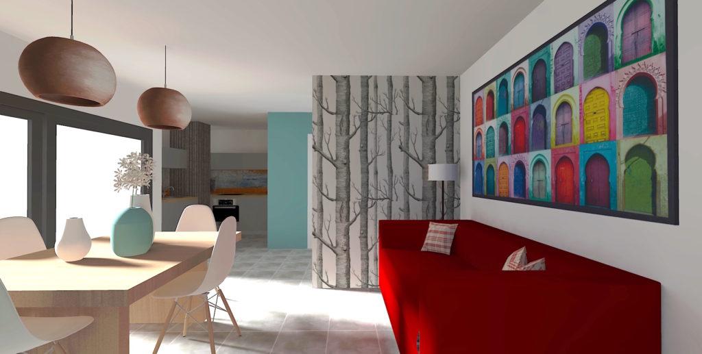 projection 3D décoration intérieur