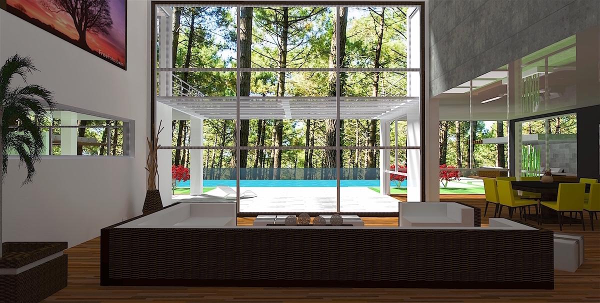 Plan maison architecte conçu sur la base d\'une structure métallique