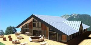 rénovation façade maison de montagne