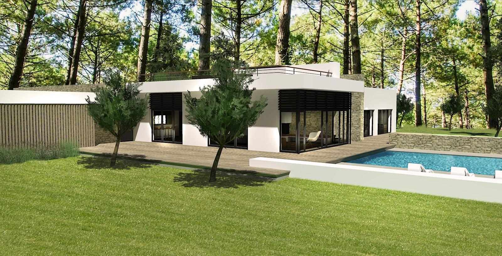 Villa archiecte avec Piscine