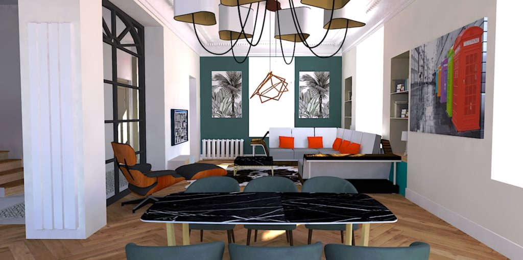 salon Haussmannien et contemporain