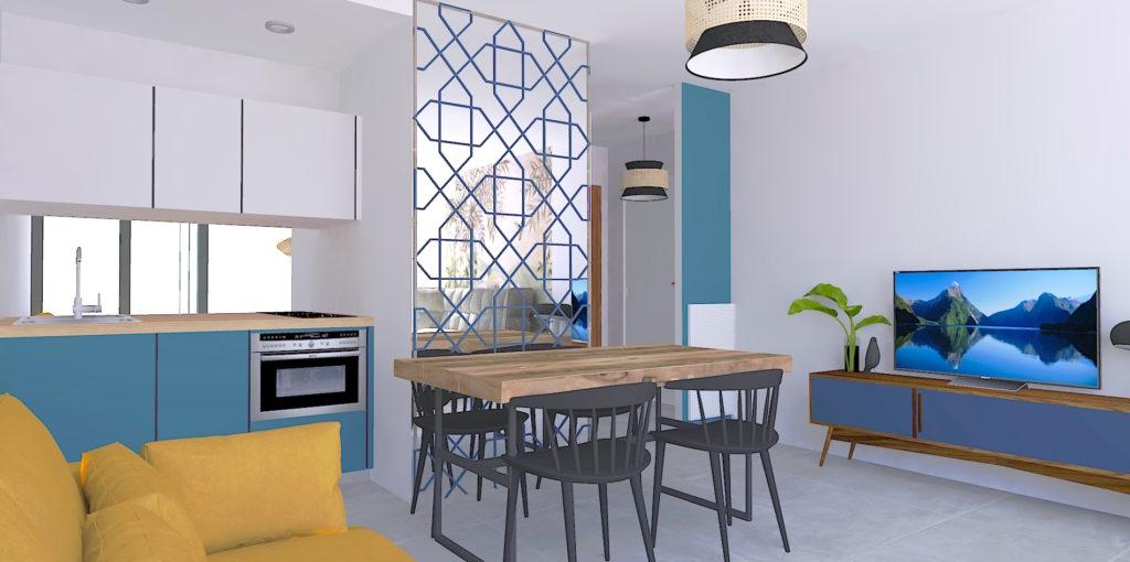 aménagement et décoration studio