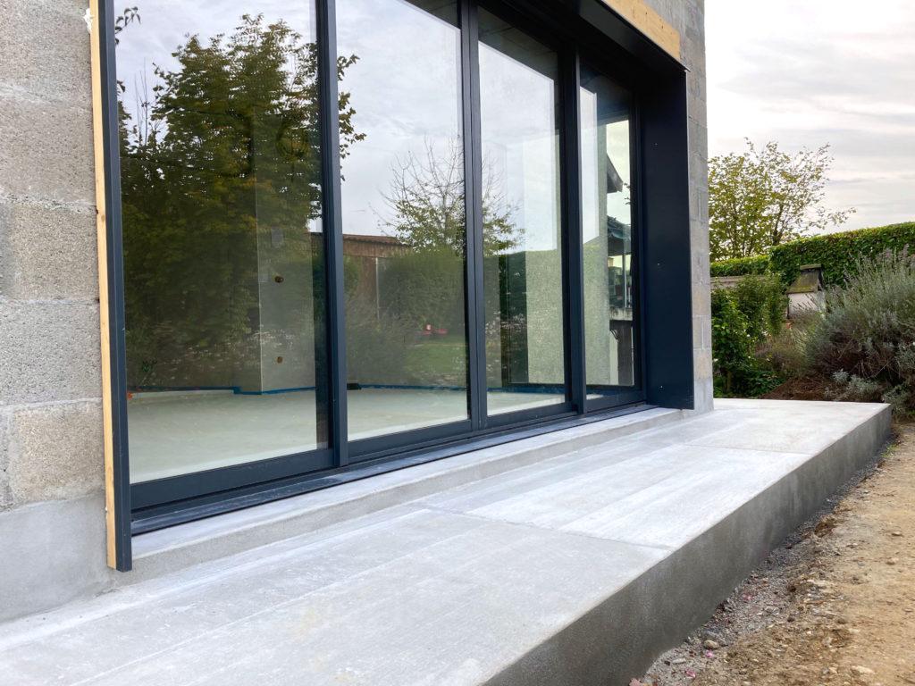 extension de maison avec baie vitrée
