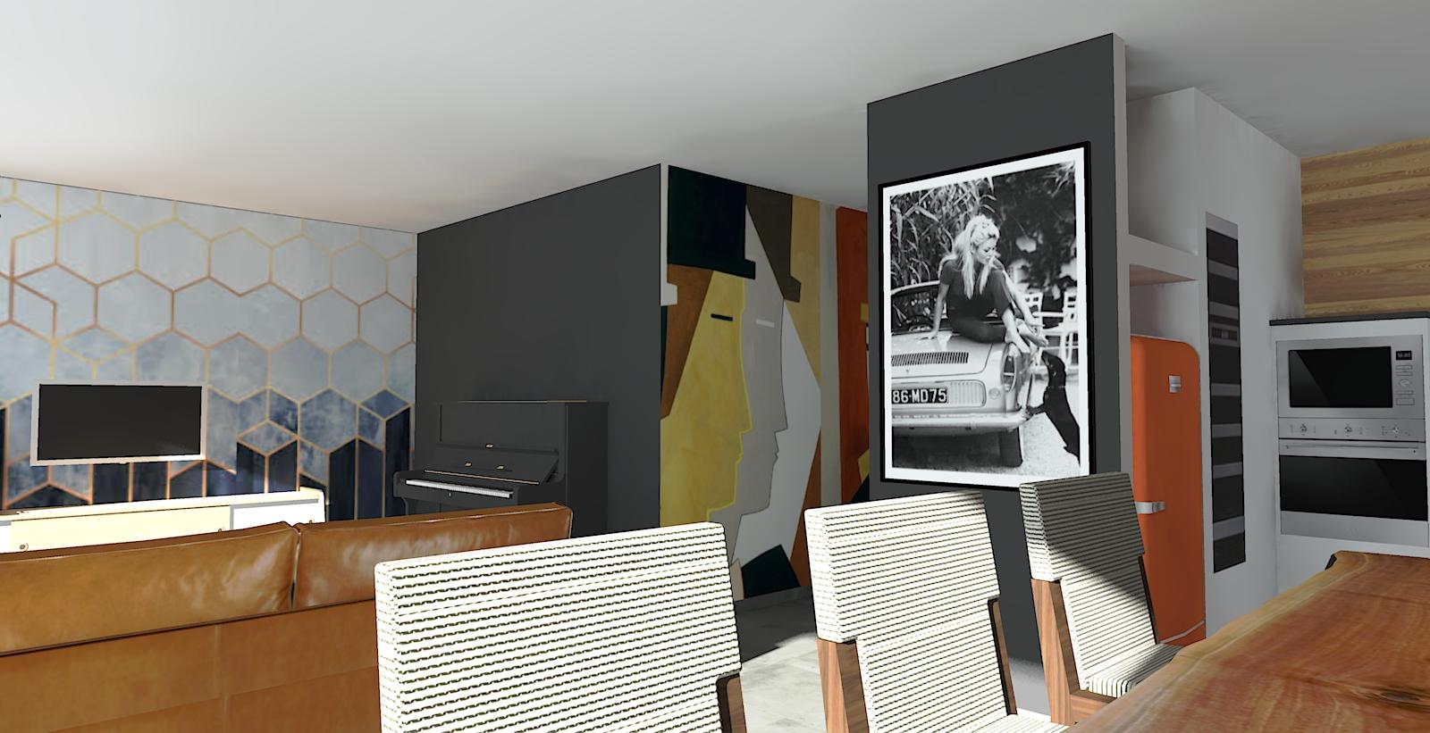 décoration intérieur décoration style année 60